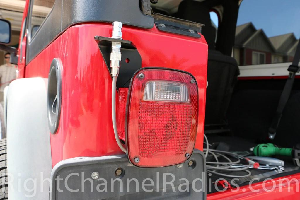 2008 Jeep Wrangler Radio Wiring Harness 1955 2006 Yj Tj Jeep Cb Radio Kit Right Channel Radios