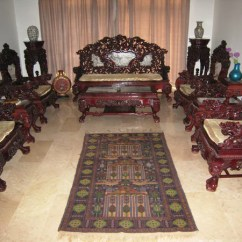 Small Table And Chairs Set Kitchen Sets With Rolling Chinese Hand Made Vintage Antique Rose Wood Furniture – Induscarpets