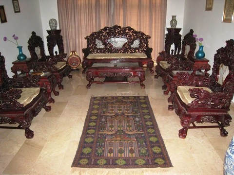 living room furniture wood wall paint stencils chinese hand made vintage antique rose induscarpets