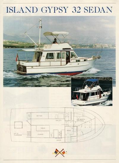 Island Gypsy 32 Sedan Trawler Brochure SailInfo I