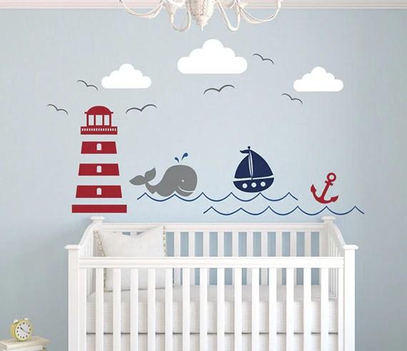nautical theme wall decal