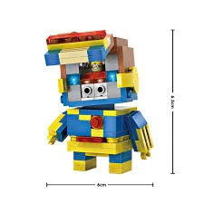 LOZ Diamond Blocks Brick 'H'eadz 162 piece Mini Block Set - Cyborg   Your Toy Mart