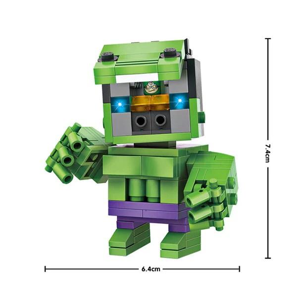 LOZ Diamond Blocks Brick 'H'eadz 163 piece Mini Block Set - The Hulk   Your Toy Mart