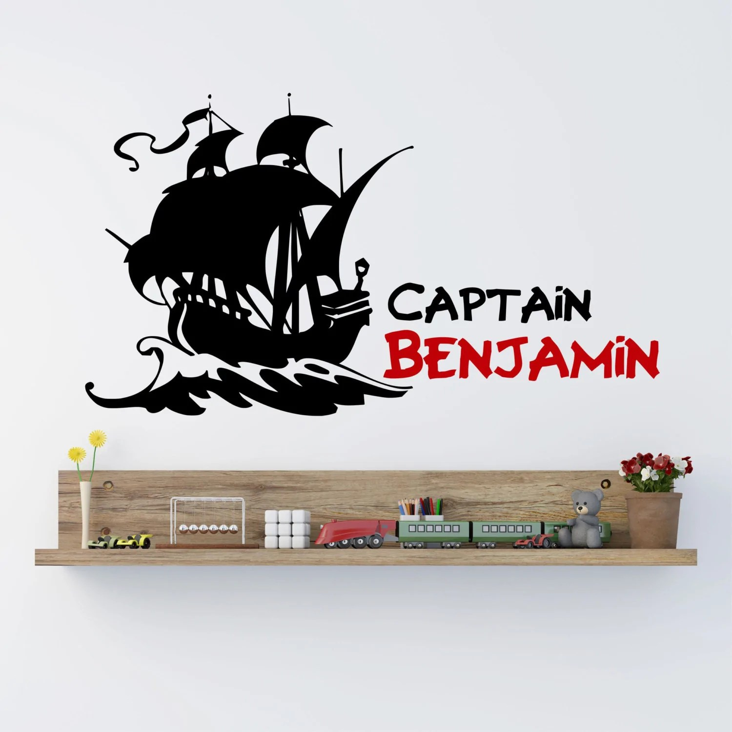 Pirate Ship Boys Name Wall Decal By Decor Designs Decals Pirate Wal