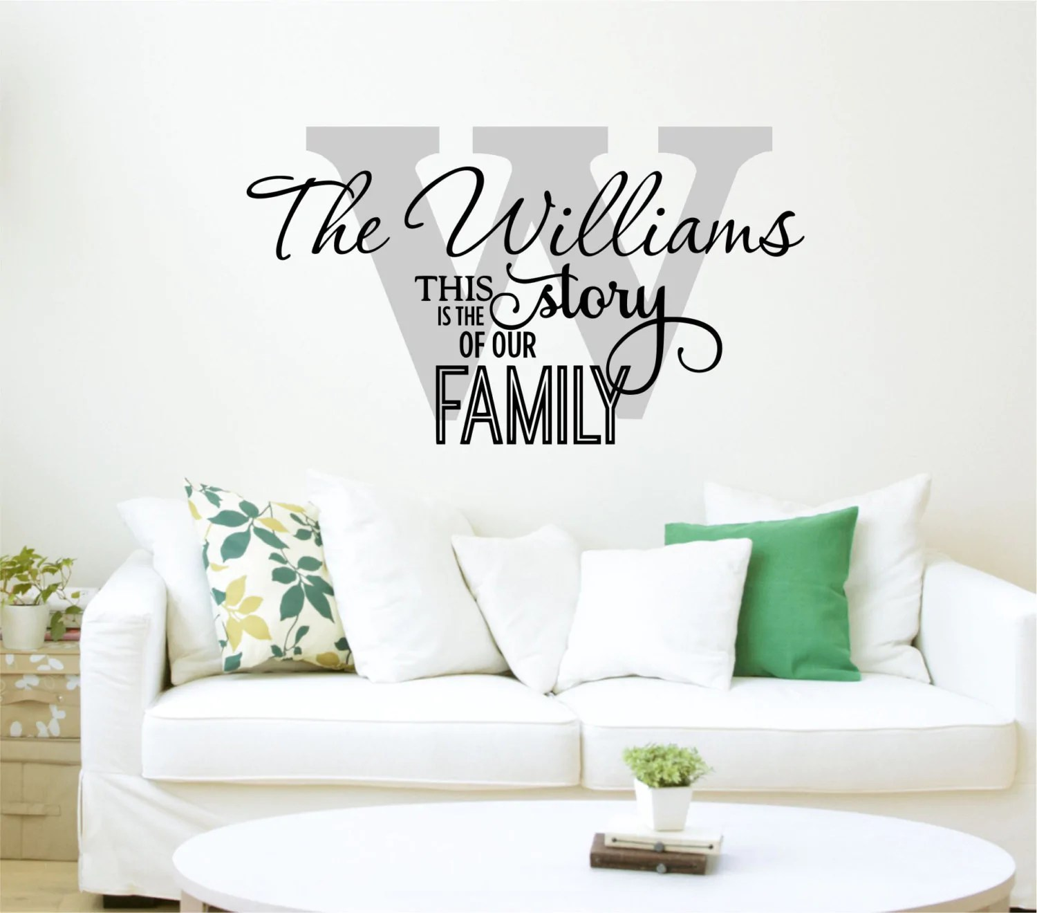 family name decal by