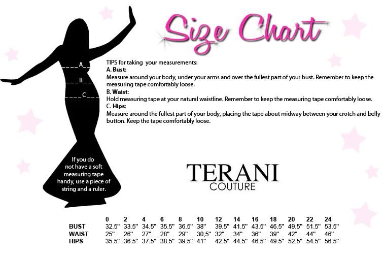 Terani sizing also size charts all sizes in canada usa   barketti rh kbarketti