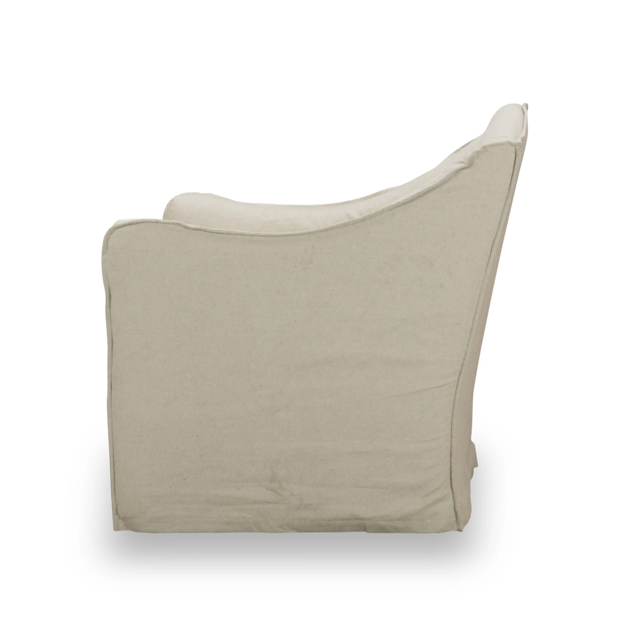 Slip Cover For Chair Keith Slip Covered Swivel Chair Sp02 Light Linen