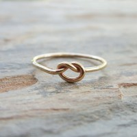 Solid 14k Gold Love Knot Promise Ring  brightsmith