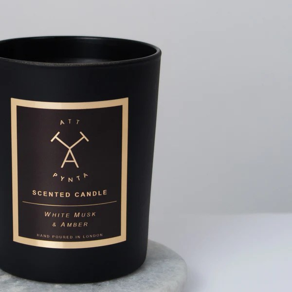White Musk Amp Amber Scented Candle Att Pynta