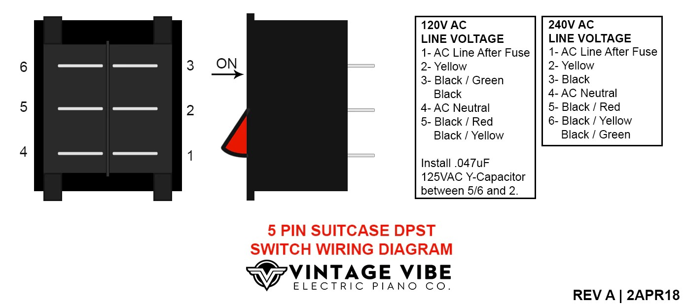 small resolution of 5 pin 100w amp power switch wiring diagram