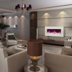 Fireplace For Living Room 3 Piece Set Microfiber Best Wall Mount Electric Ideas In Modern Blaze Mounted
