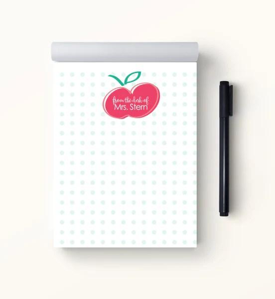 sweet apple teacher notepad