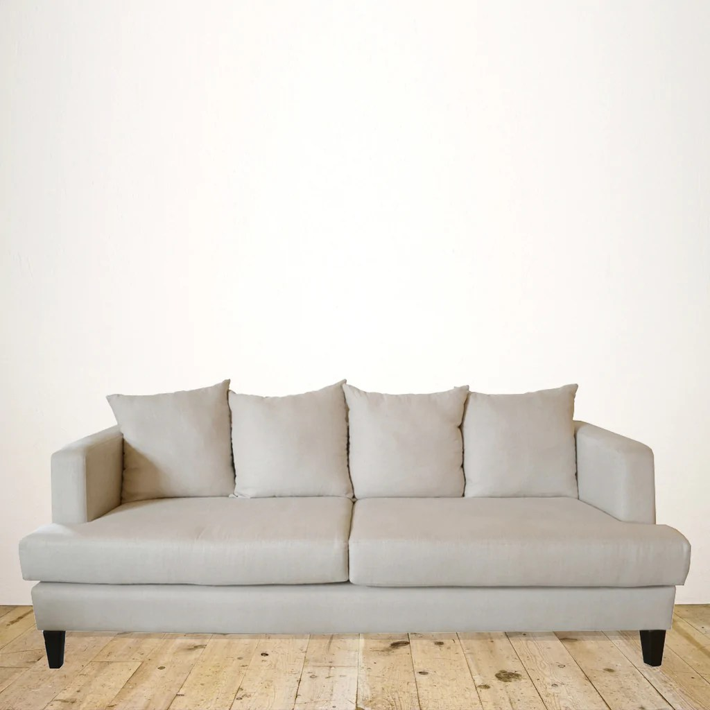 linen slipcover sofa nz modern mid century new zealand made milano 3 seater in natural