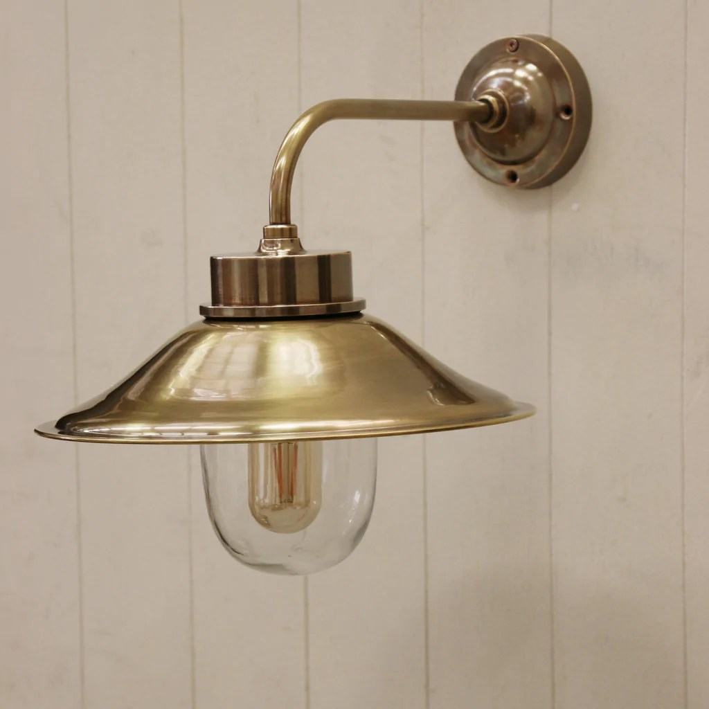 outdoor cape cod brass wall lamp