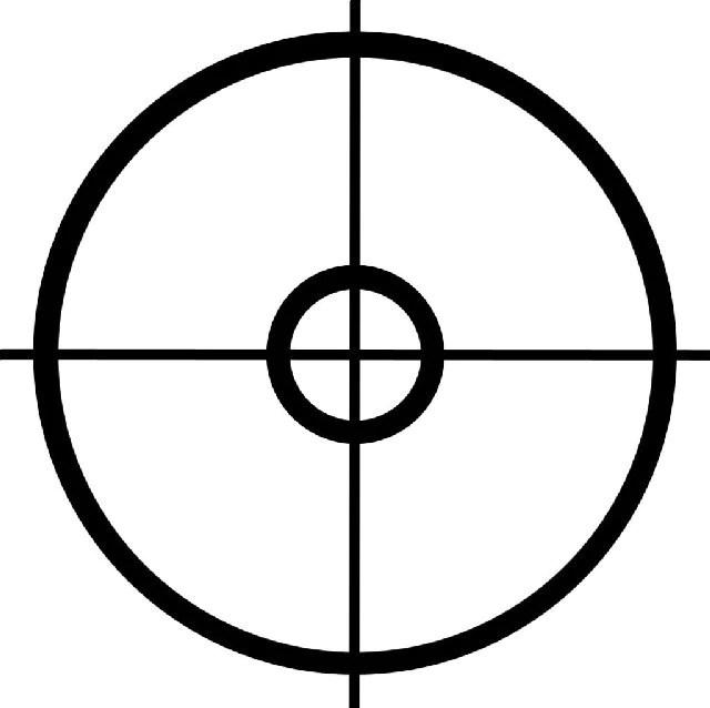 crosshairs target die cut vinyl