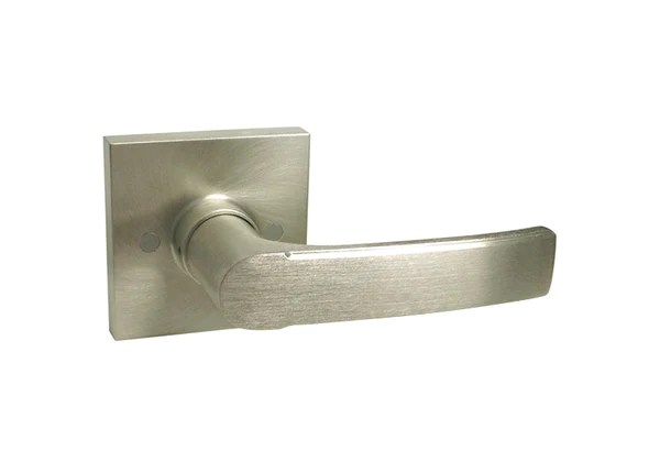Satin Nickel Square Plate dummy Handle Levers  Style