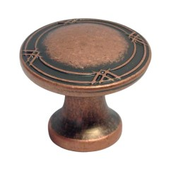 Copper Kitchen Door Handles Diy Tables Machined Antique Cabinet Drawer 1 1/4