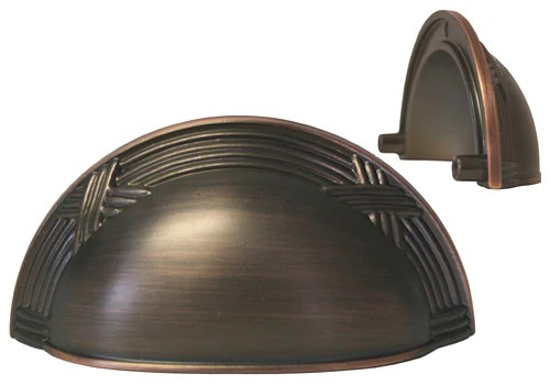 Oil Rubbed Bronze Cabinet Drawer 3 Machined Cup Pull 8858