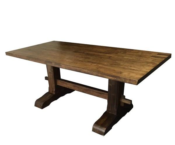 Rustic Trestle Farmhouse Harvest Table