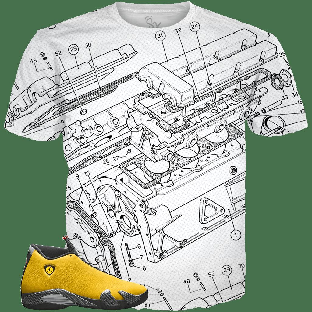 yellow ferrari 14 engine schematics white tee supremexpressions ferrari engine schematics [ 1024 x 1024 Pixel ]