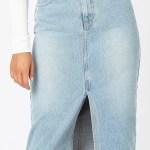 MINKPINK Central Denim Midi Skirt
