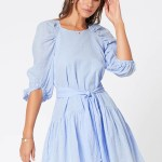 MINKPINK Heather Drop Waist Mini Dress