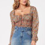 MINKPINK Fleetwood Floral Chiffon Top