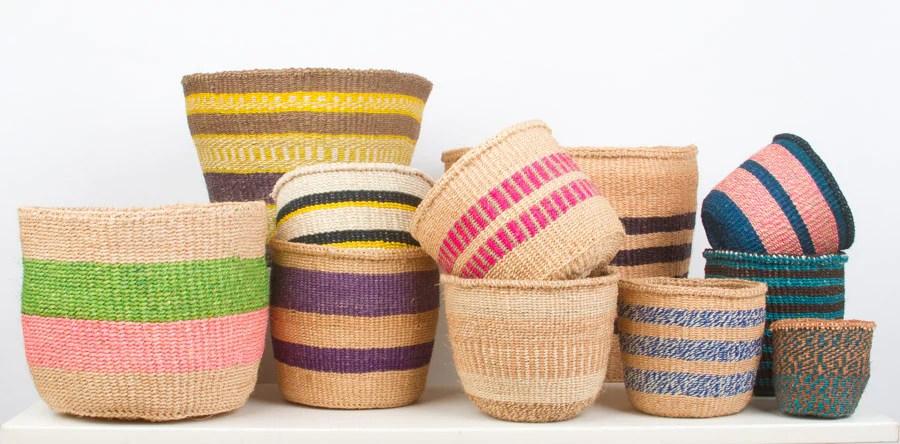 unique fine weave baskets
