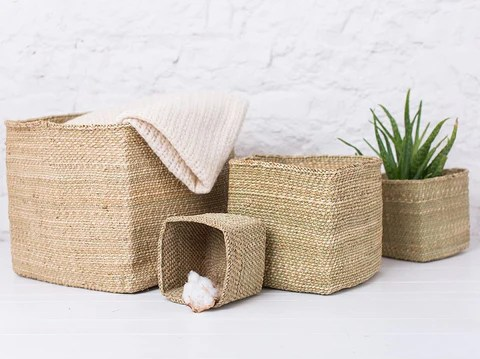 colourful african sisal baskets