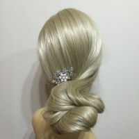 flower Garden Crystal & Pearl Wedding Hair Comb | Bridal ...