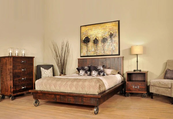 Steam Punk Bedroom Suite Industrial Craftsman