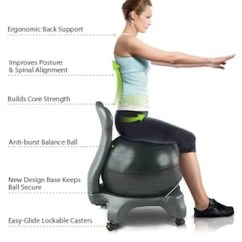 Fitball Balance Ball Chair Covers And Bows Cardiff Stel Air Office The Inside Trainer Inc Muscle Position Sense Organs Proprioception More Actively Continuously Than In A Traditional Seat 90 Degree Exercise