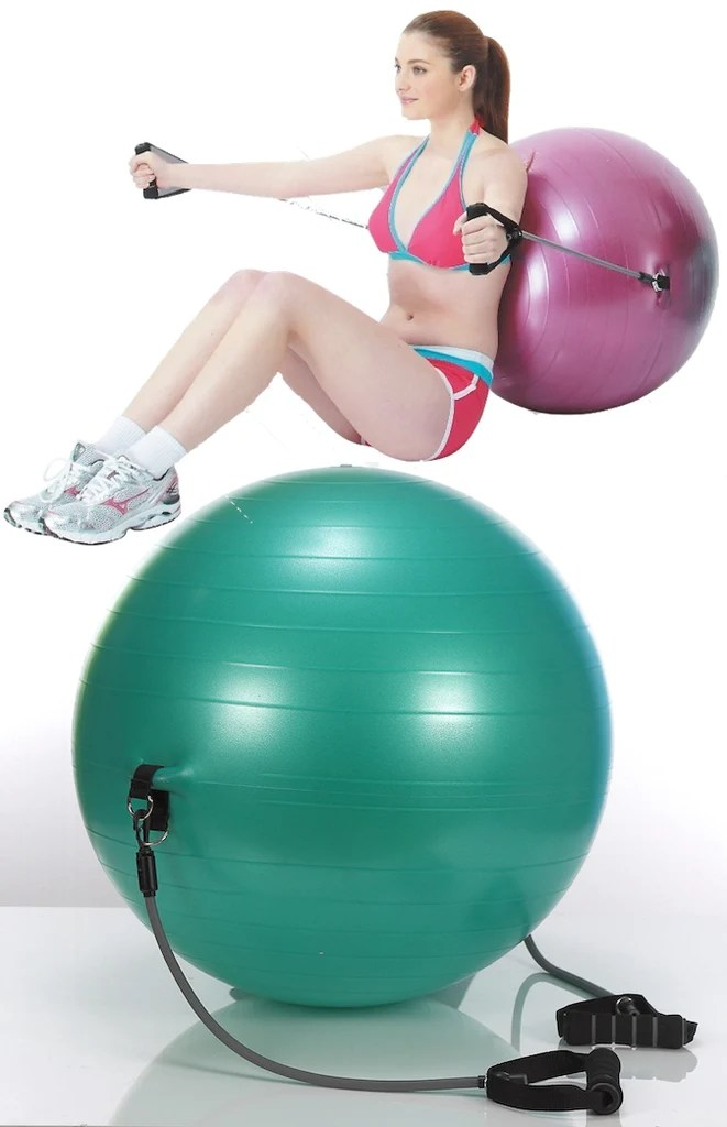StelAir Exercise Ball with Bands VF655  The Inside