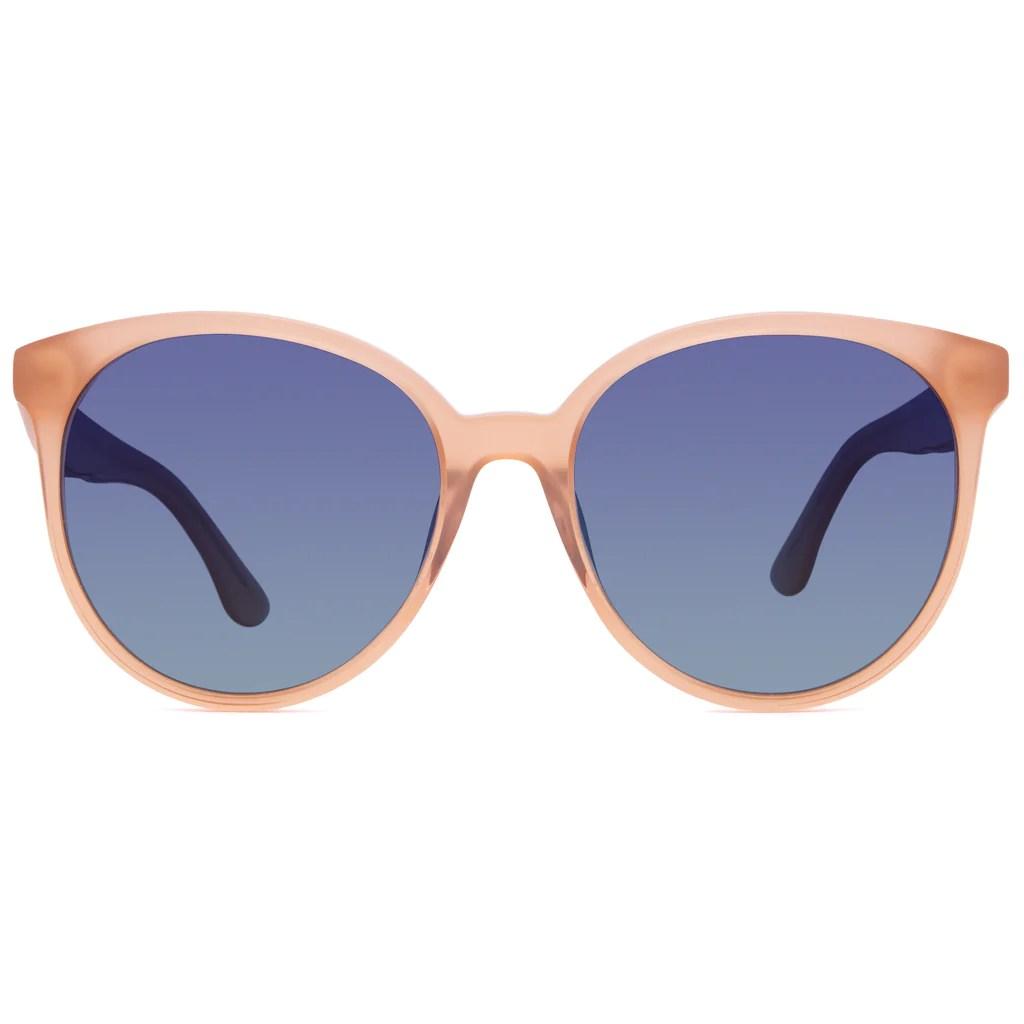 Cosmo Sunglasses L Coral Frames & Blue Green
