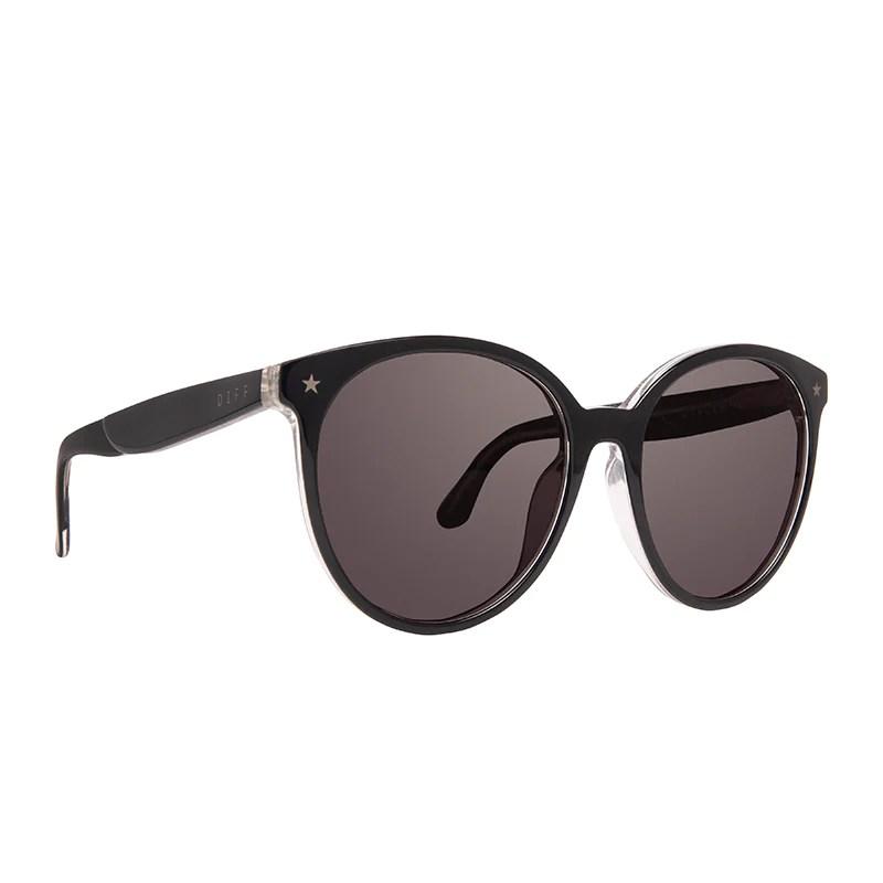 Cosmo Cancer - Black Silver Glitter Smoke Diff Eyewear