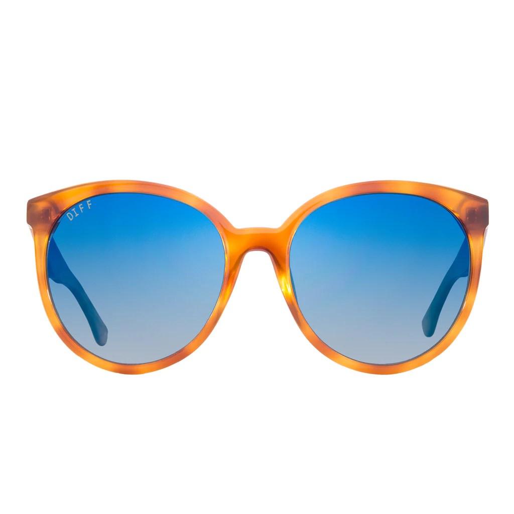 Cosmo Sunglasses Honey Tortoise Frames & Blue