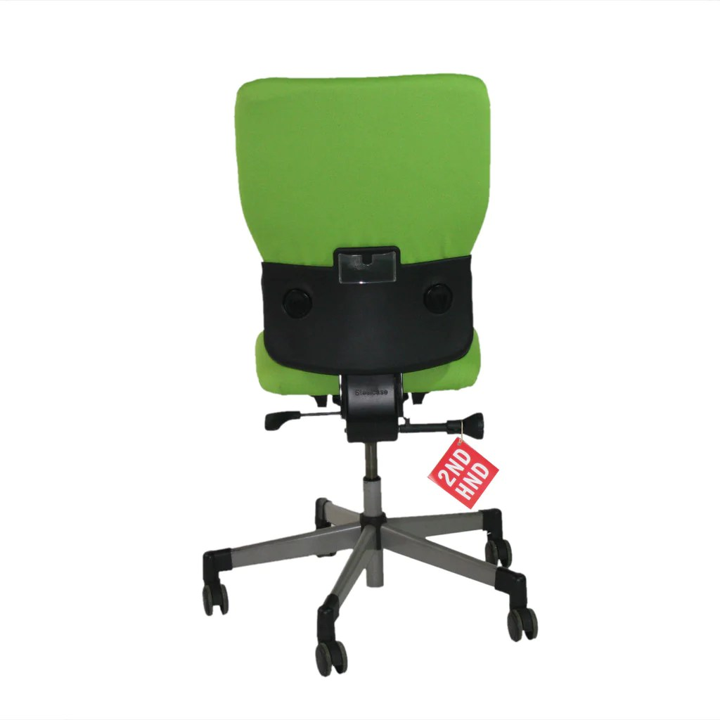 Office Chairs No Arms Steelcase Lets B Hi Back Green Task Chair With No Arms