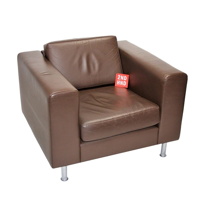 Hitch Mylius Single Seater Brown Leather Sofa – 2ndhnd.com ...