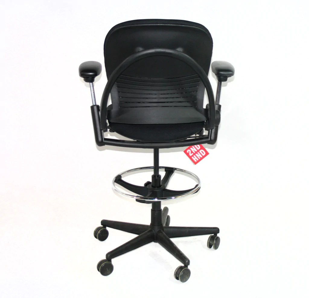 office chair vs stool swoop arm accent steelcase ergonomic used amia desk