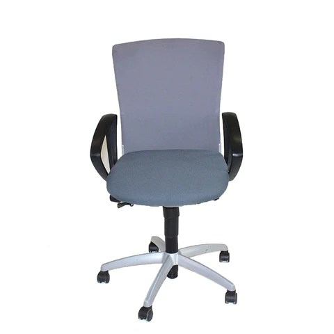 grey material office chair wedding chairs hire melbourne sedus pre owned at a great price 2ndhnd com mesh back with new fabric seat