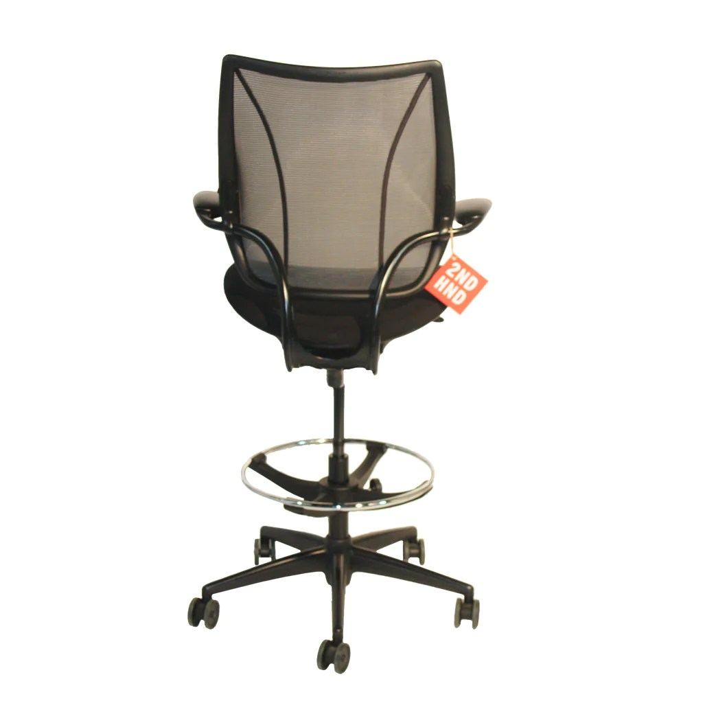 Humanscale Liberty Chair Humanscale Liberty Black Draughtsman Chair 2ndhnd