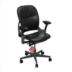 Steelcase Leap Chair Cover Hire Pretoria East V1 Original Black Leather  2ndhnd