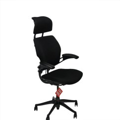 Freedom Task Chair With Headrest 1 2 Humanscale Hi Back Black