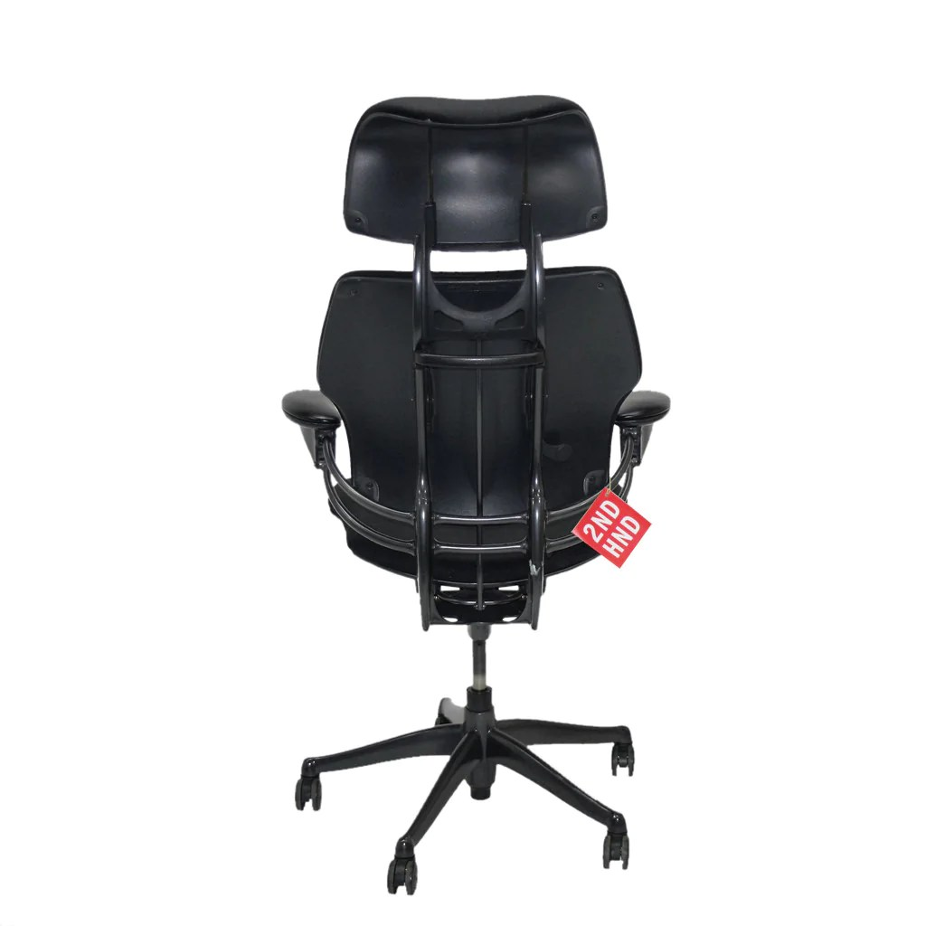 freedom task chair with headrest glider outdoor humanscale hi back black