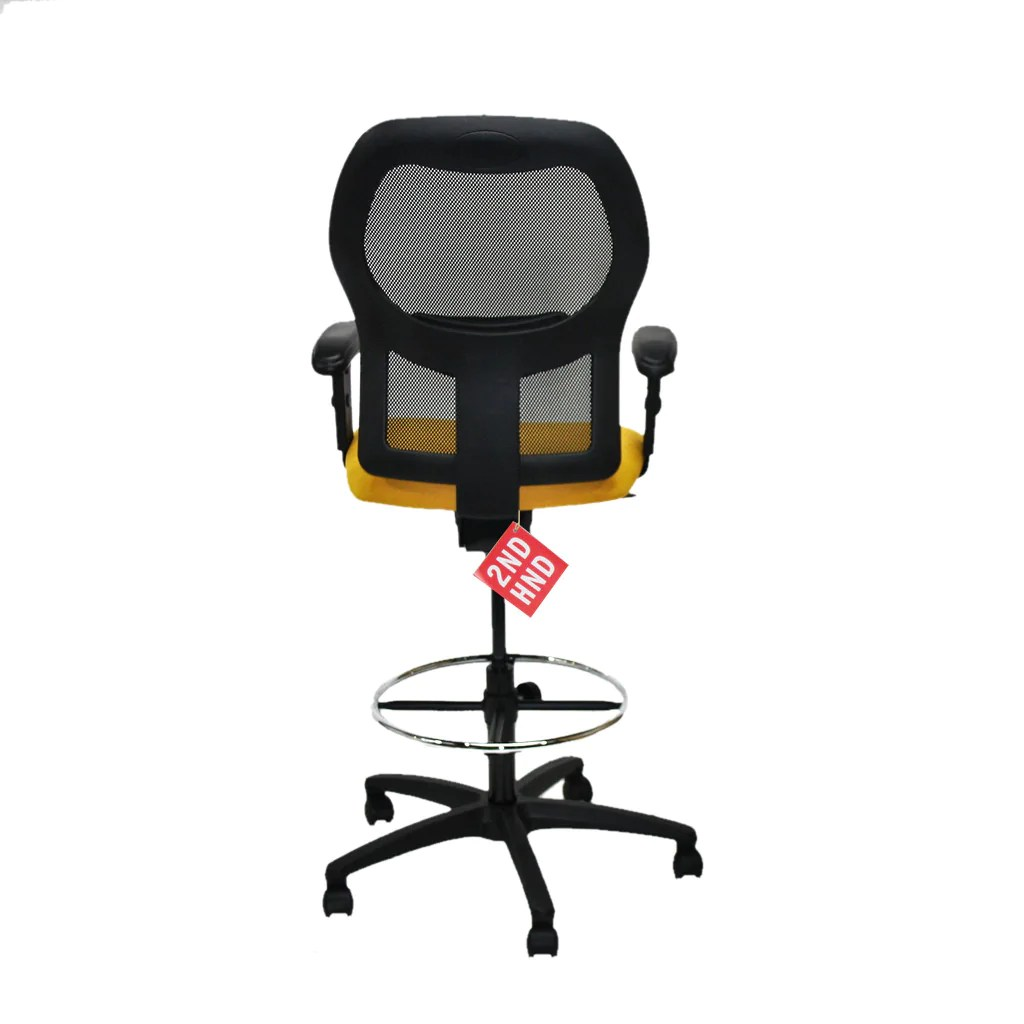 Ahrend 160 Type Draughtsman Chair Yellow Fabric Seat