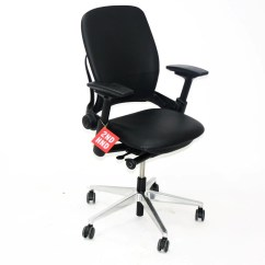 Leap Chair V2 Vs V1 Papa San Steelcase In Black Leather 2ndhnd Com Quality Office Furniture