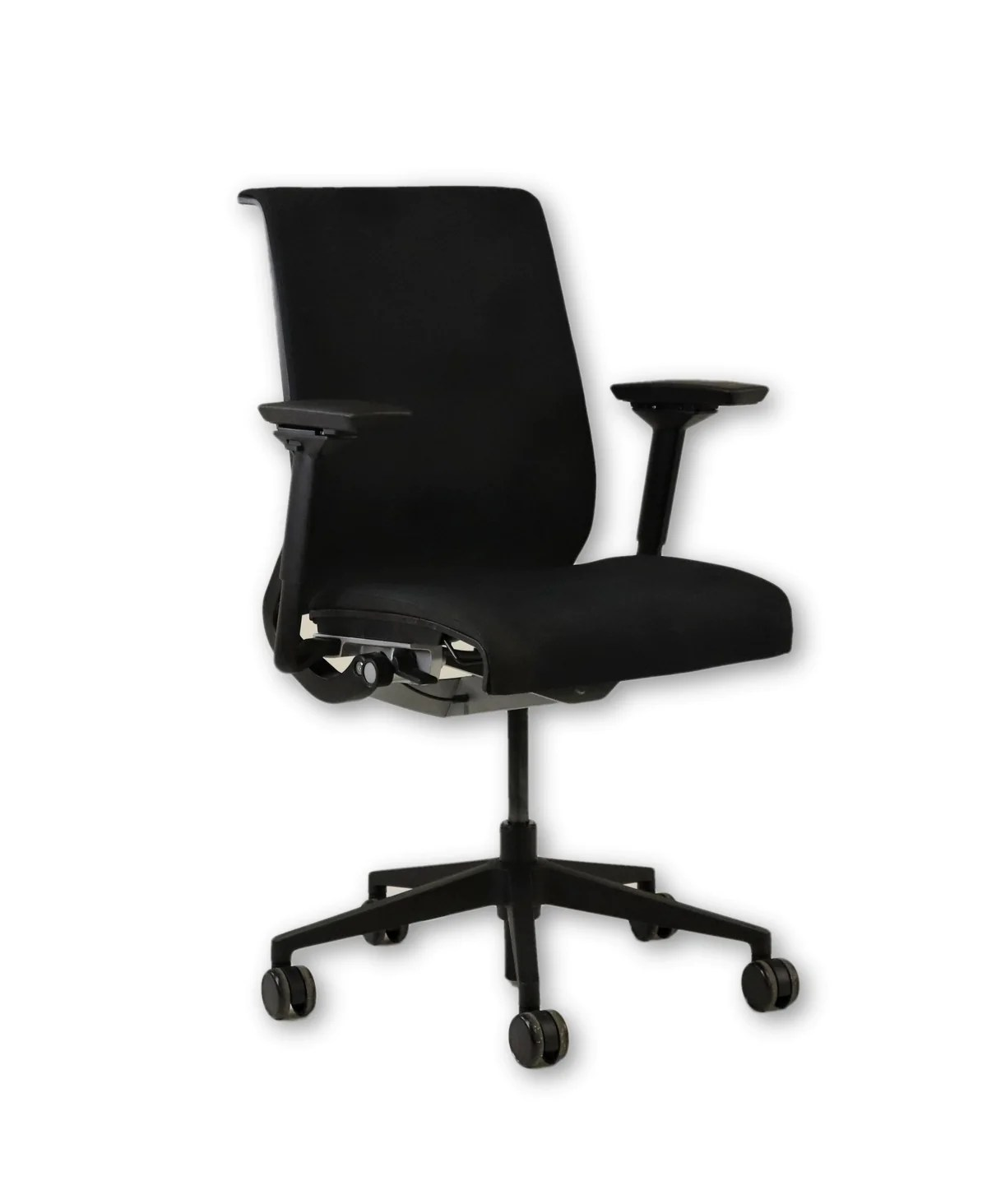 Steelcase Think Chair Steelcase Think Chair In Original Black Fabric 4d Arms