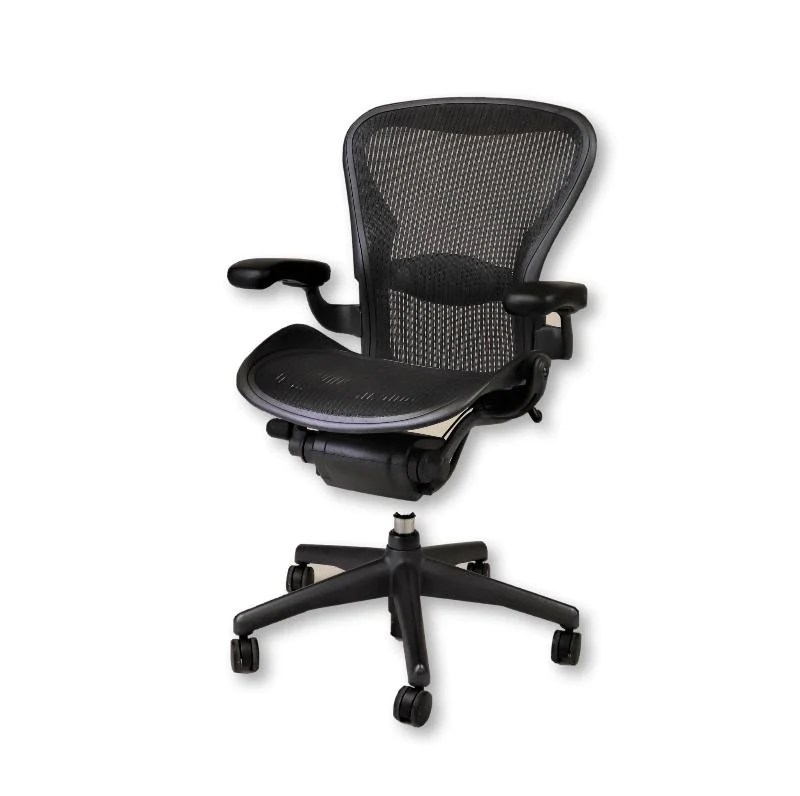 Aaron Chair Herman Miller Aeron Chair Size B Graphite Fixed Arms