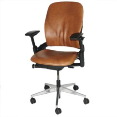 Leap Chair V2 Vs V1 Teacher Rocking Steelcase 2ndhnd Com Quality Office Furniture With Aluminium Base In New Brown Leather