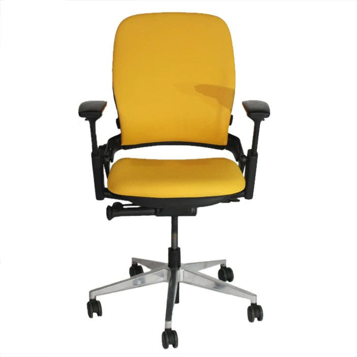 Steelcase Leap V2 Chair in new yellow fabric  2ndhndcom